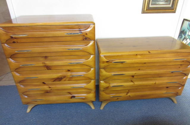 Sold Sculptured Pine Dressers Charles Shockey