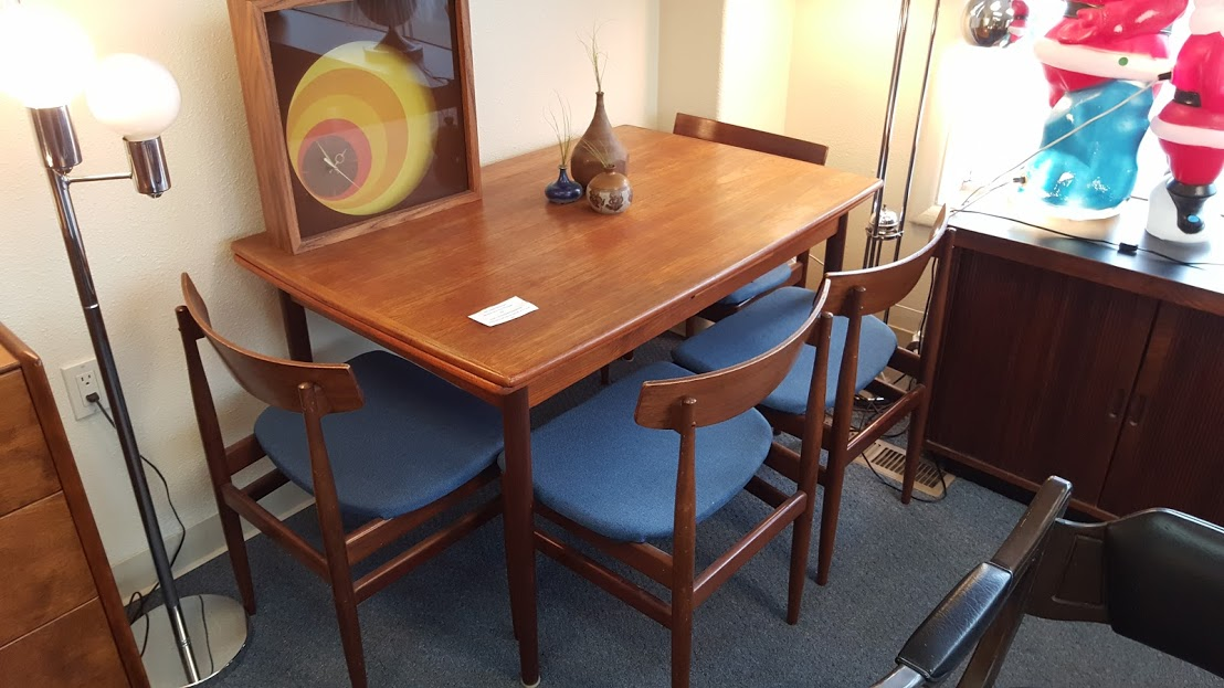 Sold Danish Teak Expandable Table And 4 Kofod Larsen G Plan Chairs