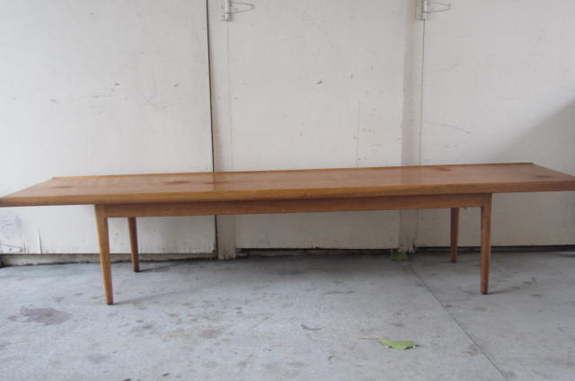 sold: long drexel coffee table or bench